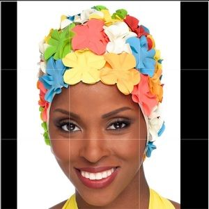 Retro Petal Flower Swim Chemo Cap
